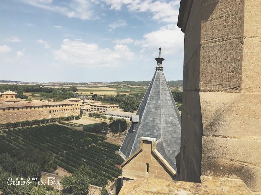 Vistas desde la torre del Palacio Real de Olite