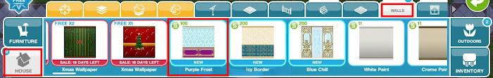 Sims FreePlay - The Secret Winter Wonderland quest purple frost