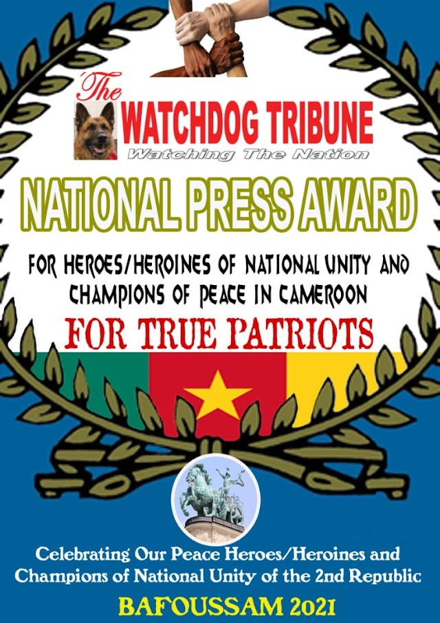 The Watchdog Tribune to award patriots of Cameroon