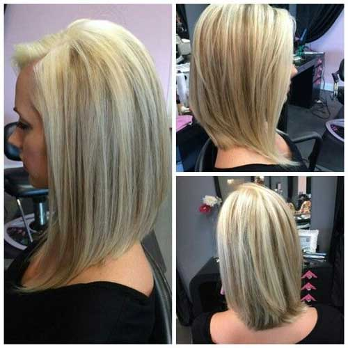 Inverted long bob cut is really a nice type of bob cuts, and many ...