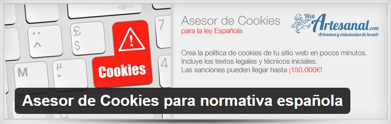 Plugins WordPress: Asesor de Cookies para normativa española
