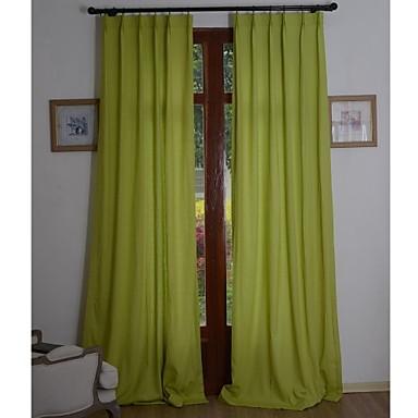 Cortinas cortinas verdes de lino y algod n for Cortinas verdes salon