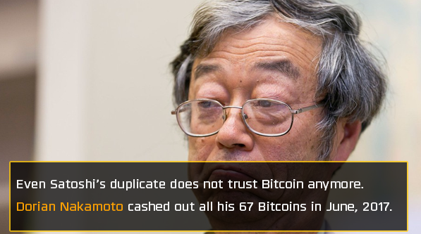 Dorian Nakamoto believes bitcoin is a bubble
