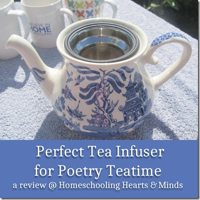 Perfect Tea Infuser for Poetry Teatime a review @ Homeschooling Hearts & Minds of the #HouseAgainTeaInfuser