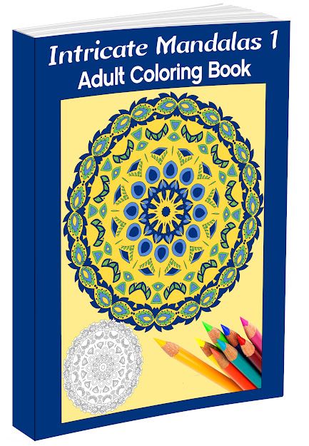 Mandalas Adult Coloring Book  Intricate Mandalas Cover