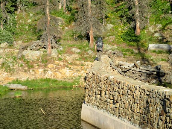 Chris on the Weir Lake dam