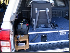Aux Battery and Fridge in Isuzu