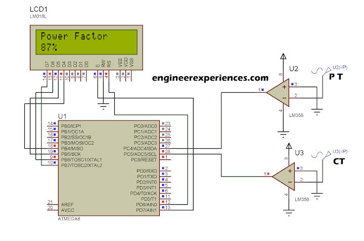 Power Factor Simulation Diagram