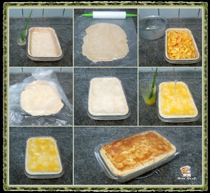 Torta de pêssegos do seriado 6