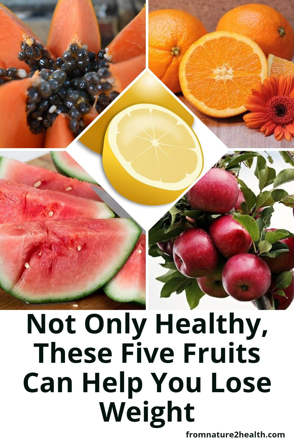 Not Only Healthy, Apple, Lemon, Orange, Papaya, Watermelon Can Help You Lose Weight
