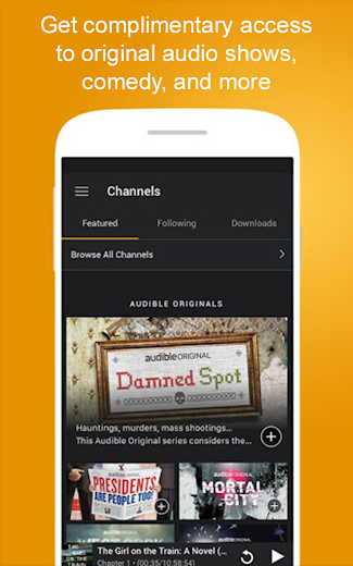 Screenshot 3 for Audible's Android app'