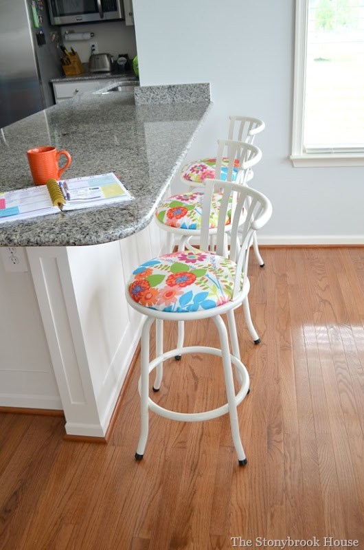 Barstools lined up