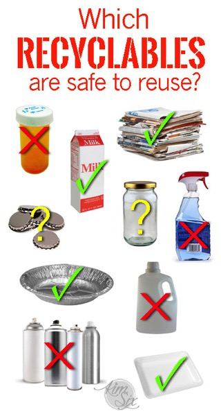 Which recyclables are safe to reuse