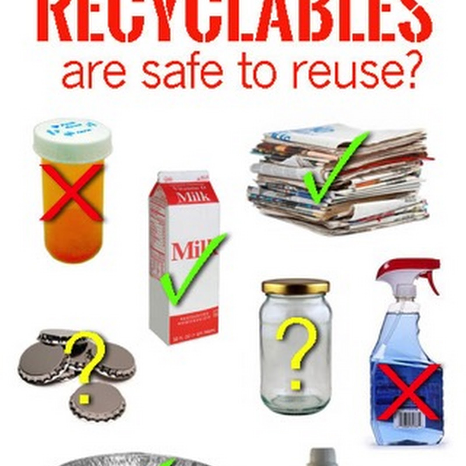 15 Recyclables You Can Repurpose and 7 You NEVER Should