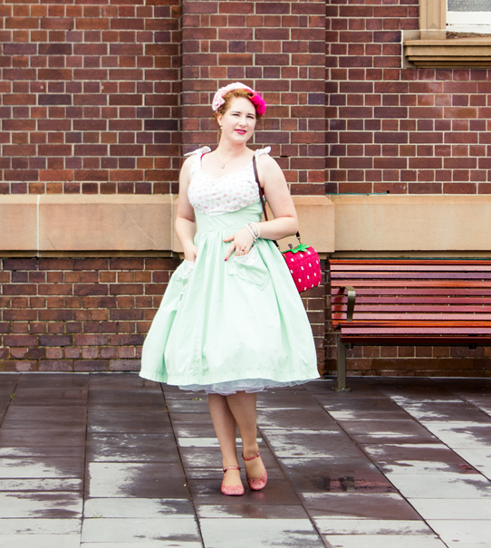 Pink and mint 1950s vintage outfit | Lavender & Twill