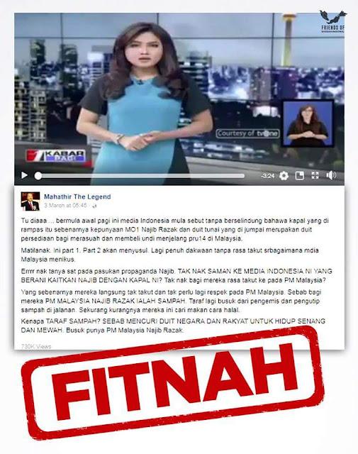 Berita FITNAH Pakatan Harapan sampai ke Indonesia, MEMALUKAN Malaysia