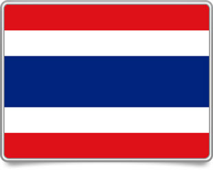 Thai framed flag icons with box shadow