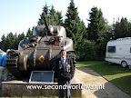 Operatie Market garden herdenking, Groesbeek museum, 17 september 2009. Een veteraan van het XXX Corps voor een Sherman Tank. Meer info: http://marketgarden.secondworldwar.nl