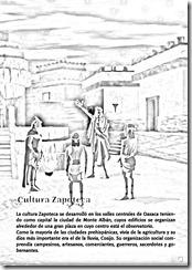 Cultura zapoteca para colorear