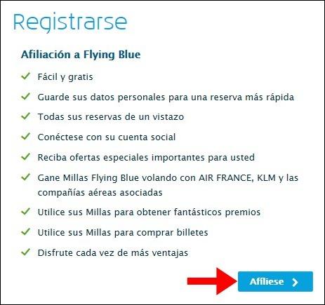 Abrir mi cuenta KLM - 531
