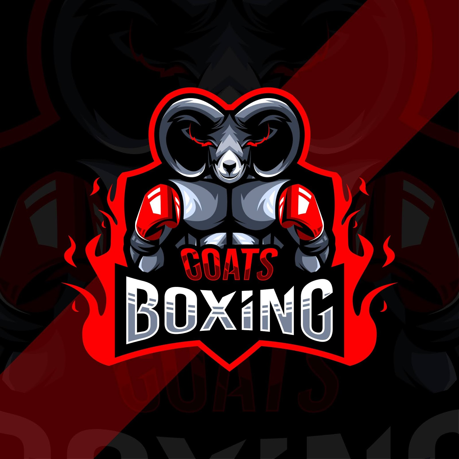 Goat Boxing Mascot Logo Esport Design Free Download Vector CDR, AI, EPS and PNG Formats