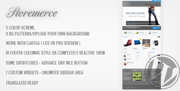 Themeforest Storemerce - an eCommerce WordPress Theme Update Jan, 05 2012