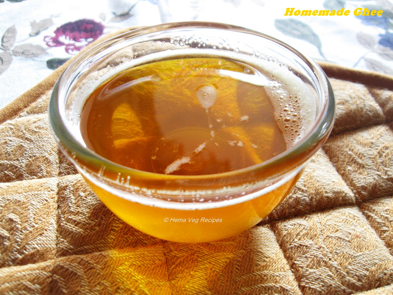 Homemade Ghee or Clarified Butter