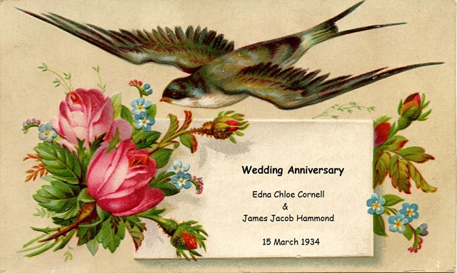 wedding Anniversary Edna James Hammond