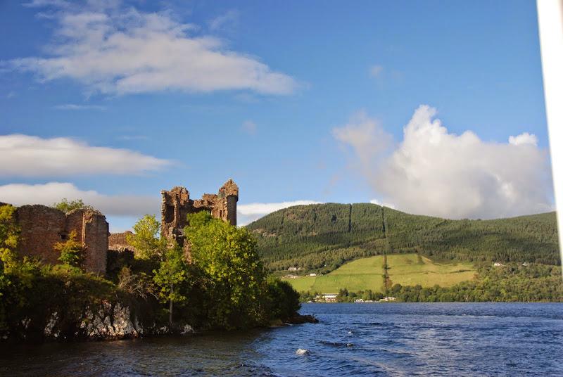 Urquhart Castle, seen from a Loch Ness cruise