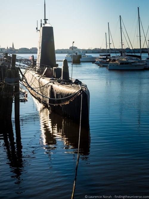 Submarine at USS Yorktown