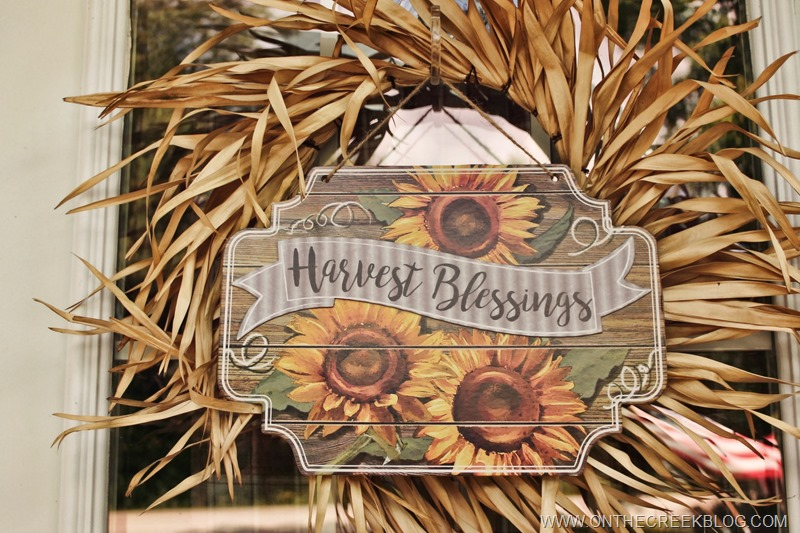 Harvest Blessings Dollar Store Fall Wreath