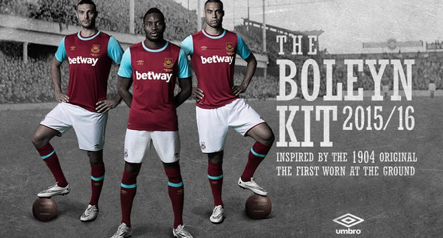 e3be45a07 New West Ham 2015-16 Home Away Kits Released