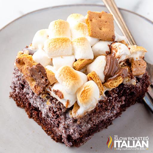 Marshmallow Smores Cake