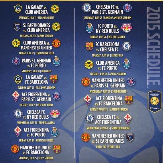 Calendario Del Barca.Calendario Del Barca En La Internacional Champions Cup Cules De