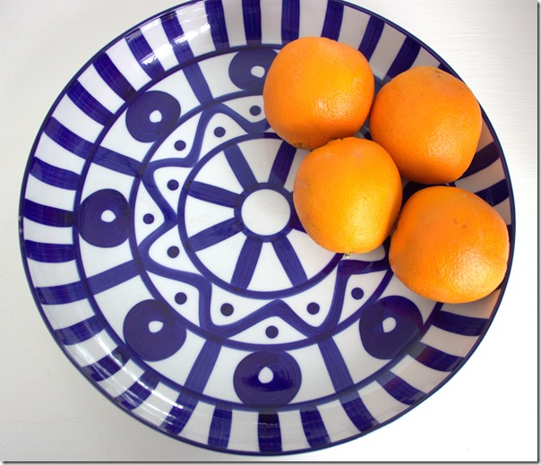 Dansk Blue and White Platter