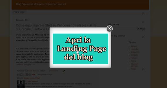 Come creare una finestra popup che mostri una immagine con link a una pagina del blog ipcei - Creare finestra popup ...