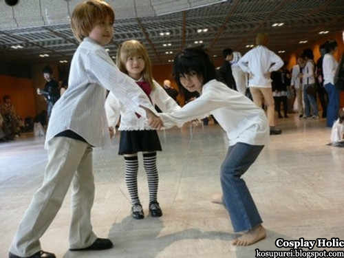 death note cosplay - yagami light / kira, amane misa, and ryuzaki l. lawliet