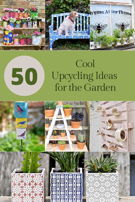Donna's pick, 50 Cool Upcycling Ideas for the Garden!