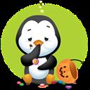 Pingüino Halloween - Sufriendo una indigestión
