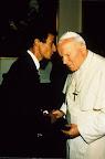 Rencontre avec le Saint-Père, dans les salons du Vatican