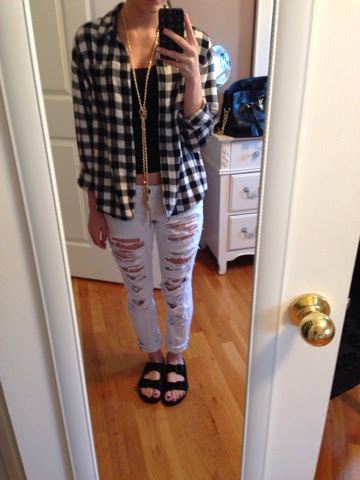 c0980a0ddfc Chanel   Michelle  Today s Look  Birkenstocks   Flannel