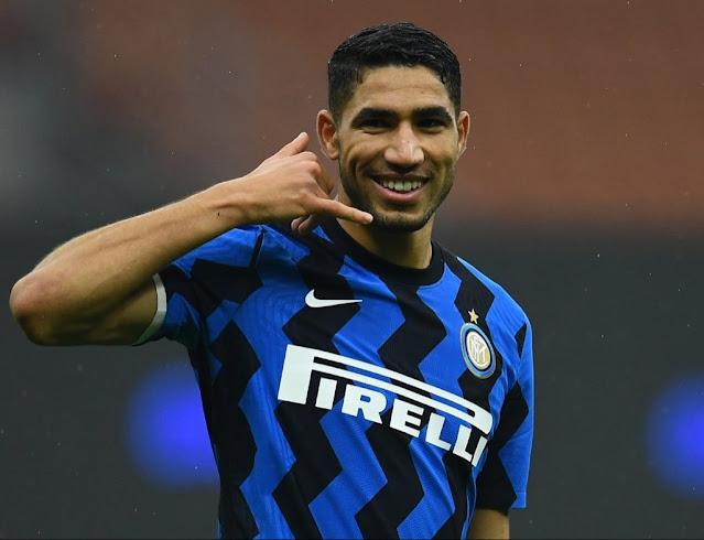 Inter player Achraf Hakimi