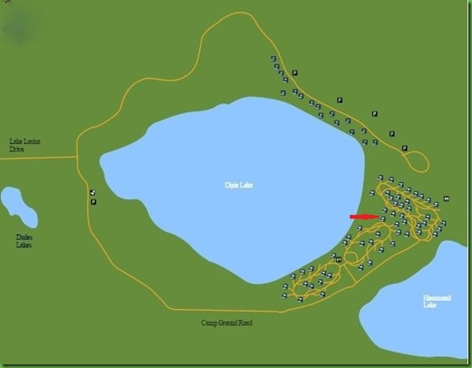 Lake Louisa Campground Map