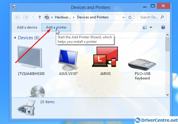 Install Canon W8200 printer driver