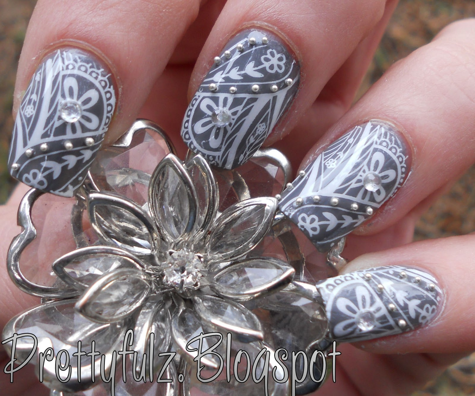 Prettyfulz: KONAD NAIL ART | Cute Deco Flower Nail Art Design ...