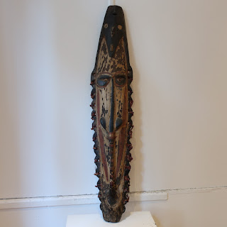 Tribal Hand-Carved Single Face Sculpture