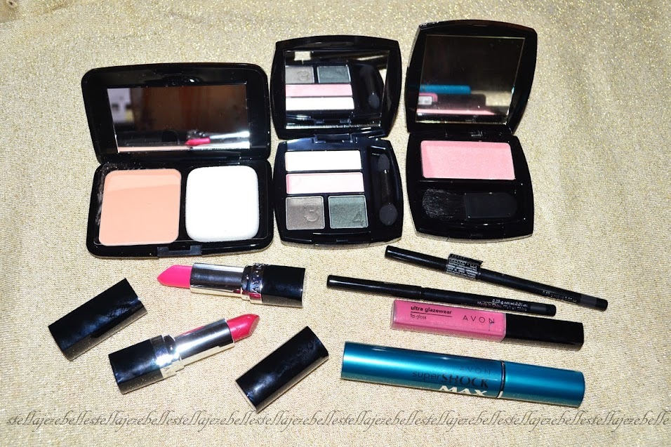 Avon, foundation, blush, compact powder, lipstick, pink, mascara, lashes, eyeliner, browliner, blush, peach, makeup haul, makeup stash, makeup collection, makeup loot