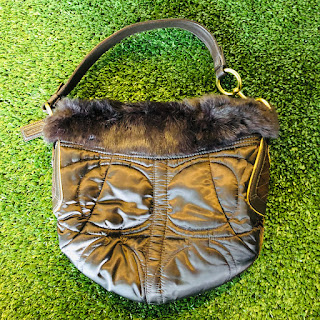 Coach Fur Trimmer Shoulder Bag