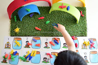 Indoor Garden Play for Counting Bugs