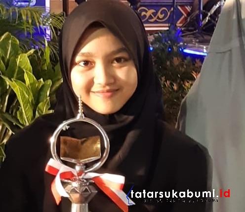 Hasna Shofwatul Azizah Juara Pertama Tilawah Alquran Provinsi Jabar // Foto : Rudi Imelda